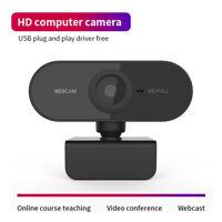 HD 1080P Webcam Autofocus Web Camera Cam For PC Laptop Desktop w/ Microphone -