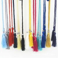 Thin Rope Self-Tie Bowknot Women Braided Decorated Waist Woven Tassel Belt