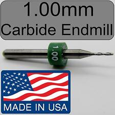 1.00mm Carbide Endmill Two Flute - NEW < Flat End Tip >  CNC PCB FR4 models  N