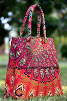Indian Mandala Multi Tote Bag Shoulder Handbag Cotton Women Satchel Purse Lady_v