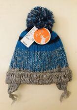 Nwt Childrens Place Pom Pom Hat Mittens Set Size 12-24 Months 2T Blue Toboggan