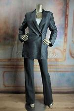 $3990 New AKRIS Black Gray Denim Boucle Wool Flax Pinie Blazer Jacket 38 8