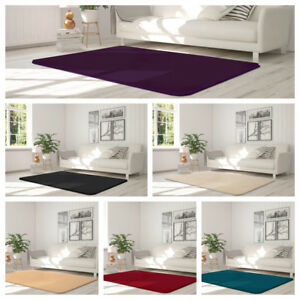 New Velvet Soft Touch Comfortable living & Bed Rooms Rug In Solid Colours Carpet
