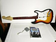 Rock Band Wii Bundle Wireless Fender Stratocaster Guitar W/Dongle,Rock band game