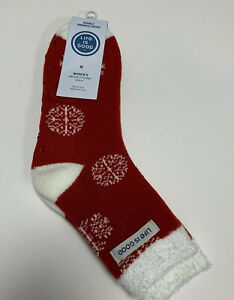 Life is Good Double Snuggle Socks red womens one size fits most holiday slipper