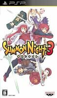PSP Summon Night 3 Japan PlayStation Portable