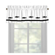 Salmon Fish Window Valance Curtain Your Choice of Colors