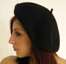 Gorras y sombreros de mujer negro de lana de talla única