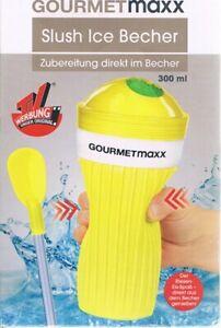 Gourmetmaxx Slush Ice Becher TV Original Slush Eis Becher gelb