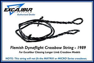 """EXCALIBUR Flemish Dynaflight 36"""" Crossbow String Mag Tip Limbs Only #1989 Dealer"""