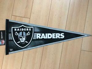 """NFL American Football Las Vegas Raiders Large Team Felt Pennant Flag 29"""" x 12"""""""