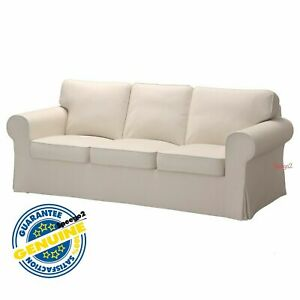 IKEA Ektorp 2 Seat Sofa Bed SLIPCOVER Cover IDEMO LIGHT BROWN Cotton LAST ONE