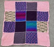 Crochet Handmade Afghan Purple Pink Mickey Mouse Blanket 39x39