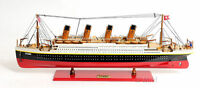 "RMS Titanic Cruise Ship Ocean Liner 25"" Built Wooden Model Boat Assembled"