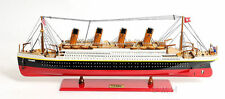 "RMS Titanic Cruise Ship Ocean Liner 25"" Built Wooden Model Boat Assembled"