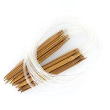 Set 18 Sizes Knitting Needles Carbonized Bamboo Circular Needle Craft DIY 31.5''