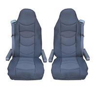 2x Schwarz Sitzauflage LKW Sitzbezug Bezug Sitzschoner für  SCANIA R G P 4 Serie