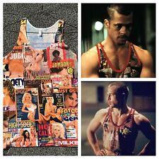 Tyler Durden Fight Club Rare Black Sugar TAnk Top Brad Pitt Hustler Op 523 MED