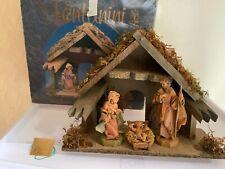 "Fontanini Heirloom Nativity Roman 5"" Stable Mary Joseph Baby Jesus in Box 54523"
