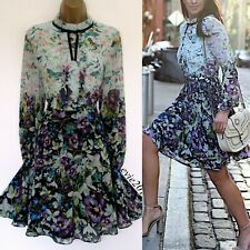 Ted Baker Dress TB 2 (UK 10) Immaculate Meelia Purple Pink Green Blue Fit &Flare