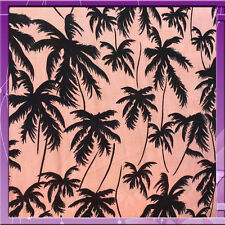 100% RAYON CHALLIS PALM TREE DESIGN FABRIC 58 WIDE PINK SOLD BY THE YARD