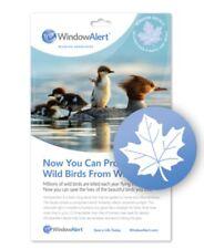 Window Alert Maple Leaf 4 Decals Protect Save Wild Birds Prevent Window Strikes