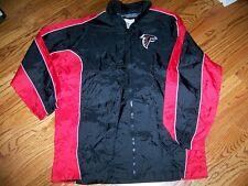 Vintage NWT 90s Atlanta Falcons Black Red Nylon Windbreaker NFL jacket NEW Large