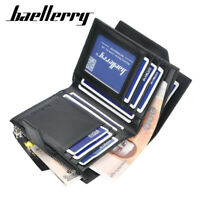 Men's Short Wallet Multi-card Coin Purse Youth Tri-fold ID Credit Card Holder