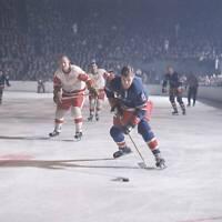 OLD LARGE NHL HOCKEY PHOTO, New York Rangers Vic Hadfield 1967