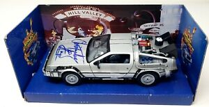 CHRISTOPHER LLOYD Signed BACK TO THE FUTURE 2 Delorean 1:24 Toy Car BAS #P99472