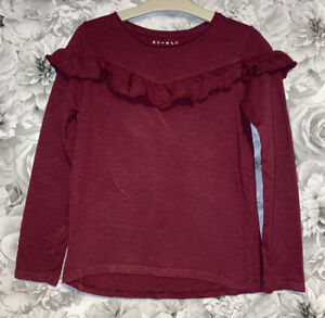Girls Age 8-9 Years - Long Sleeved Top - Excellent Condition