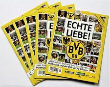 Panini Echte Liebe BVB - 5 x Leeralbum - Bundesliga Borussia Dortmund