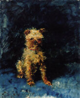"stunning oil painting 100% handpainted on canvas ""a dog"""
