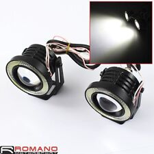 Universal Motorcycle Car LED Headlight Spotlight Fog Light Lamp Projector Black