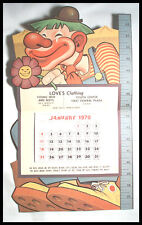 "Clown 1970 Calendar Size-Up ""I Was Naughty Today!"" Vintage Print #2 Free Ship"