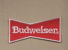 NEW 1 1/2 X 3 INCH BUDWEISER BEER BOW TIE IRON ON PATCH FREE SHIPPING
