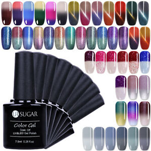 Temperature Colour Changing Gel Nail Polish Thermal Soak Off UV LED Gel UR SUGAR