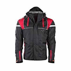 Men's Cordura Motorbike Racing Jacket Textile CE Armour Motorcycle Zip Up Pocket