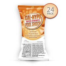 24 x 1 lb Bags Swimming Pool Shock 65% Calcium Hypochlorite Chlorine Cal Hypo