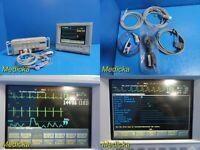 Agilent M1204A / V24C Multiparameter Monitor W/ Modules & Patient Leads ~ 20235