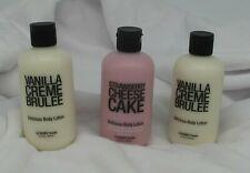 HeMPZ TReaTS Delicious Body Lotion Vanilla Creme Brulee Strawberry Cheesecake