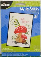 """Bucilla My 1st Stitch Cross Stitch Kit 5""""x7"""" (12.7cm x 17.8cm) """"Live Simply"""""""