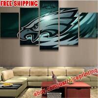 5P Philadelphia Eagles Wave Canvas Painting Photo Print Wall Art Fan Home Decor