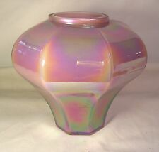 Lovely Silvestri Corp. Mouth Blown Glass Iridescent Flower Floral Vase