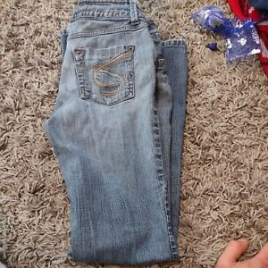 "So ""so real so right"" Jeans stretch blue juniors sz 1 reg"