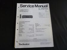 Original Service Manual Technics SL-PS770A