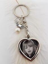Memorial Bereavement Memory Photo Keepsake Keychain Bag Charm Gift box and tag