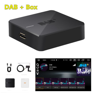 Portable DAB+ Box Radio Receiver Digital Audio Broadcasting Adapter With Antenna