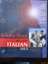 The Rosetta Stone Italian Level 2 (2003, CD-ROM) Personal Edition - New