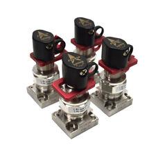 (Lot of 4) Fujikin FUSDBL-21L-6.35-APY 2-Port C-Seal Diaphragm Air Valves 088032